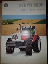 Prospekt Sales Brochure Steyr 9000 9155a 9170a 9190a Traktor Technische Daten