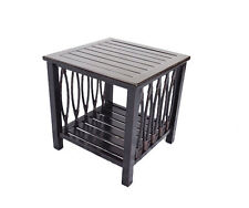 Patio end table Outdoor side accent square aluminum pool furniture.