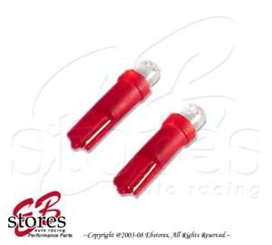 Set of 2pcs Red Transmission Indicator LED Light Bulb 74 73 2721 - T5 1 Pair