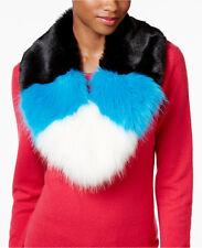 Betsey Johnson xox Trolls Faux-Fur Colorblocked Muffler One Size