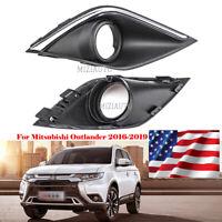 For Mitsubishi Outlander 2016-2019 Front Bumper Fog Lamp Light Cover Grill RH US