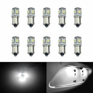 10 Stück BA9s T4W Birne Weiß Auto Standlicht Bremslicht Lampen Leuchte 12V Neu