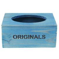 MagiDeal Wooden Tissue Box Napkin Toilet Paper Box Holder for Car Restaurant
