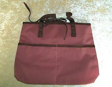 Plum Cosmetic Make Up or Travel Bag with Two Outside Pockets