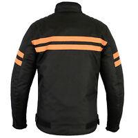 Herre sportifs TEXTILE blouson de motard, moto noir orange taille M jusqu'à