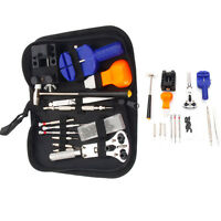 13PCS Watch Repair Tool Kit Opener Link Remover Spring Bar With Carry Case New
