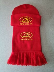 Official Liverpool Football Club Boys Hat & Scarf Set In Original Red and Yellow