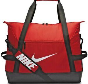 Mens Nike Club Team Duffel Holdall Gym Travel Yoga Bag CV7830 657 Black/Red