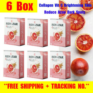 6X Renatar Aura Plus Collagen Vit C Brightening Skin Reduce Acne Dark Spots