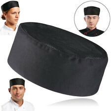 Us Breathable Mesh Top Professional Catering Chefs Bakers Cap Black Cooking Hat