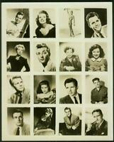 1940's Proof/Uncut Sheet w/Rita Hayworth, Shirley Temple, Lana Turner, 16 cards