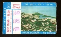 1974 Notre Dame v Northwestern Football Ticket 9/21 Dyche Stadium 43365