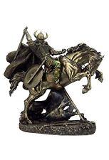 "10.75"" Norse Viking Warrior on Rearing Horse Statue Sculpture Figure Figurine"