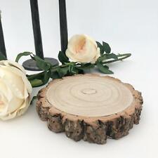 Natural Wood Log Slice Tree Wedding Table Centrepiece Xmas Cake Stand 8-14cm