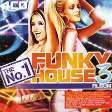 THE NO 1 FUNKY HOUSE ALBUM 3 - 4X CDS 60 UNMIXED TRACKS ! HOUSE TRANCE CDJ CD DJ