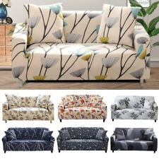 Printed Slipcover 2/3/4 Seater Sofa Covers Elastic Couch Cover Protector Decor