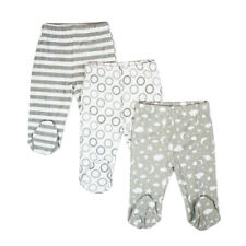 Baby 3 Pack Cotton Footed Pants