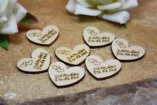 50 x Streudeko Holz Herz Verlobung Hochzeit Taufe Konfirmation Kommunion