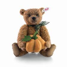 """Steiff """"Harvest Teddy Bear"""" Ean 683121 Russet Mohair-Holds Pumpkin Lim Ed 2016"""