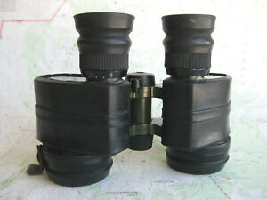 Hungarian 8x40 military binoculars w/battery in axle for reticle light