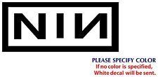 "Nine Inch Nails Metal Music Rock Band JDM Vinyl Sticker Decal Car Window Wall 8"""