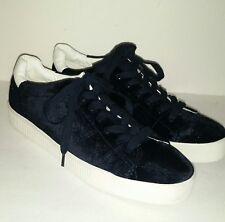 Zara Black Velvet Low Top Sneakers Women's 40 US9 Shoes New