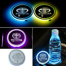 2PCS LED Car Cup Holder Lights Pad Mat for Toyota Atmosphere Lamp Light 7 Colors