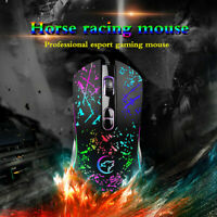 Mechanical Gaming Mouse Color Backlit USB Wired Optical Mice For Laptop Mac