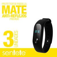 Sentete® 3x Xiaomi Mi Band 2 Protector de Pantalla MATE PREMIUM