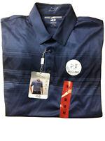 Greg Norman Men's Play Dry ML75 Tech Performance Golf Polo MEDIUM BLUE
