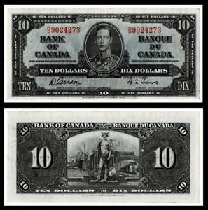 1937 Canada $10 Dollar Banknote