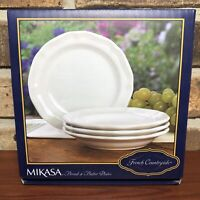 MIKASA French Countryside Set of 4 Bread & Butter Plates
