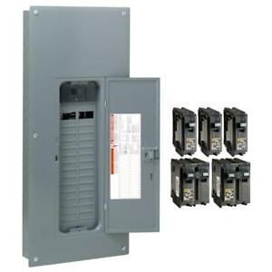 Homeline 200 Amp 30-Space 60-Circuit Indoor Main Breaker Plug-On Neutral Load -