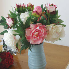 REAL TOUCH Peony King x 4 - artificial flowers - Pink, White, Light Purple