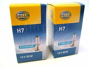 Pair of Hella OEM Quality H7 Headlight Headlamp Bulbs for VW Audi SEAT & Skoda