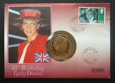 Gibraltar Princess Diana 35th Birthday 1996 Queen Elizabeth (coin cover) limited