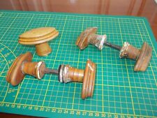 Antique interior Wooden doors knobs treen.