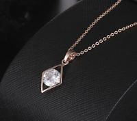 Damen Gold 18K Halskette mit Anhänger Collier Geschenk Zirkonia vergoldet 42€