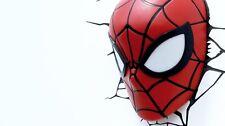 正版 Marvel Avengers蜘蛛俠頭LED 3D牆燈