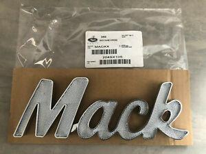 Brand New Genuine Mack Trucks Chrome Mack Name Logo Side Bonnet Badge Decal