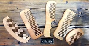 Beard Hair Moustache Wooden Pocket Comb 100% Natural Wood Essential/ Gift Idea