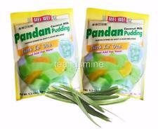 Instant Pandan Coconut Milk Pudding for Dessert Drink Bubble Tea 5.3 Oz.(2-pack)