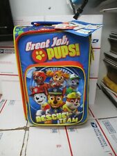 """NICKELODEON PAW PATROL 18"""" CARRY ON LUGGAGE NEW WITH TAGS FAST / FREE SHIPPING"""