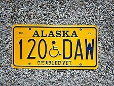 * Alaska Disabled Veteran License Plate # 120 Daw