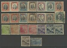 Chili stamp 1920s -1930s Air Mail a group of mint and used stamps