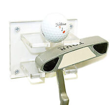 Clear Acrylic Golf Ball and Putter Combo Wall Mount Bracket (A054-G)
