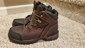 Red Wings Irish Setter Leather Work Boots Size 8D STEEL TOE ASTMF2413-11
