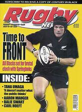 Nz Rugby News 34-21, 16 Jul 2003 Tan 00004000 a Umaga, Aaron Mauger, Balie Swart, Carl Hoe