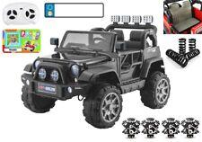 Jeep V12 Off Road, 4 Motoren, Kinderauto Kinderfahrzeug Elektroauto schw