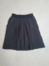 LEIFSDOTTIR Anthropologie Gray Pleated Skirt Women Size Medium Stretch Lined EUC